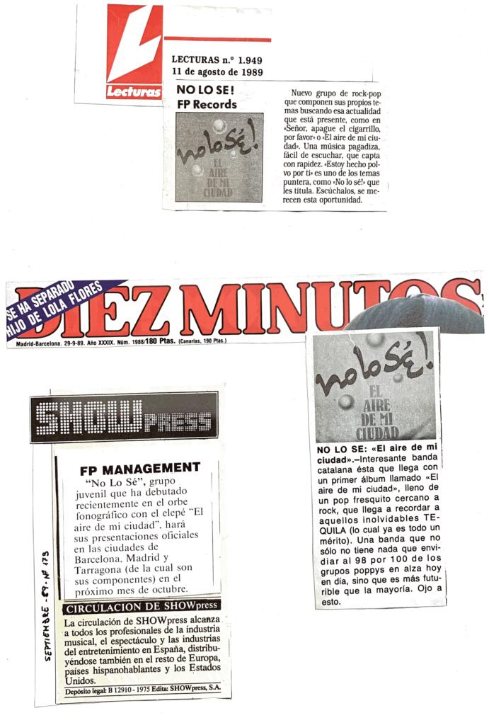 Nolo sé! – Prensa 89