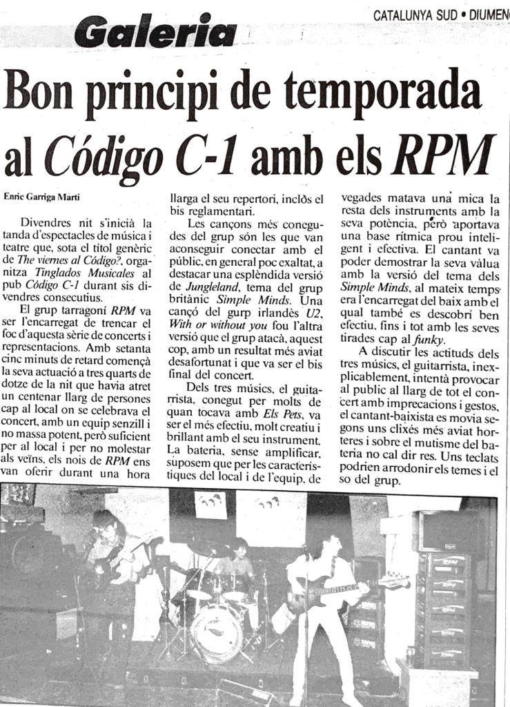 Rpm – Código C1