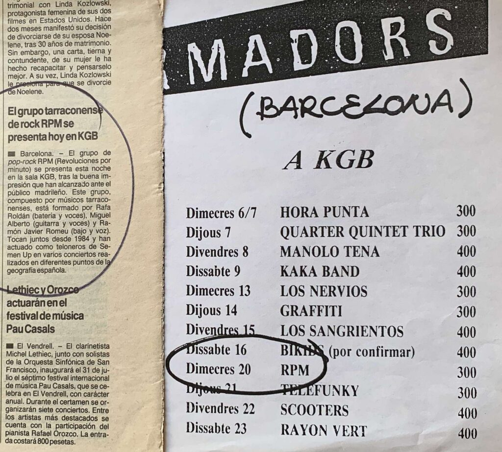 Rpm – KGB – Barcelona
